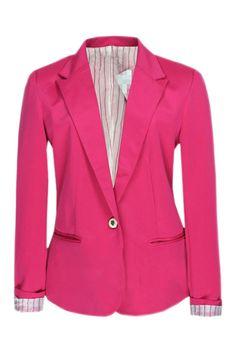#Romwe Single-breasted Rose Blazer