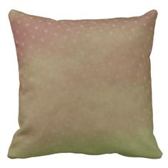 Gradient Red and Green Polka Dot Throw Pillow #homedecor    in stock: $67.95 a beautiful throw pillow that would enhance your home color scheme. Or easy to coordinate. Nice Mute earth tones.