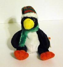 "Ty TOBOGGAN - 5"" Holiday Penguin - Jingle Beanie Baby."
