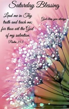 Lead me in Thy truth and teach me for thou art the God, of my salvation. saturday saturday quotes saturday blessing saturday image quotes saturday quotes and sayings Saturday Morning Quotes, Good Morning Quotes, Saturday Saturday, Saturday Greetings, Good Morning Greetings, Morning Blessings, Morning Prayers, Good Morning Flowers, Good Morning Good Night