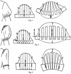 """Baby kites """"Sewing-Diary"""": Interesting facts: How are puff sleeves made (puff . - Baby kites """"Sewing-Diary"""": Interesting facts: How to make puff sleeves (puff sleeves) - Pattern Drafting Tutorials, Sewing Tutorials, Dress Sewing Patterns, Clothing Patterns, Pattern Sewing, Pola Lengan, Sewing Sleeves, Sewing Blouses, Sleeves Designs For Dresses"""