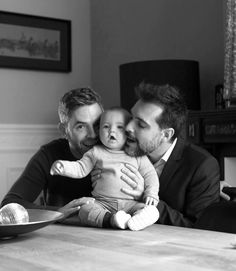 gay couple with baby