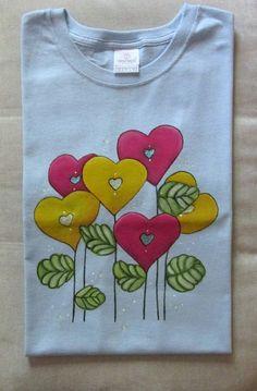 Playera personalizable - Flor de corazón