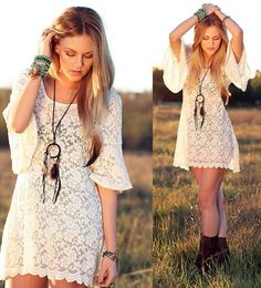 what a breath of fresh air. boho dress