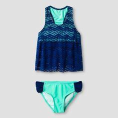 Girls' Malibu Dream Girl Crochet 2pc Tankini - Navy : Target