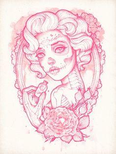 New Vintage Camera Tattoo Ink Pin Up 68 Ideas Tattoo Sketches, Tattoo Drawings, Art Drawings, Art Sketches, Rose Tattoos, Body Art Tattoos, Tatoos, Los Muertos Tattoo, Catrina Tattoo