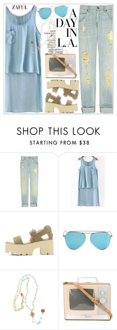 """""""Zaful"""" by teoecar ❤ liked on Polyvore featuring Citizens of Humanity, Alicia Marilyn Designs, Jeremy Scott and zaful"""