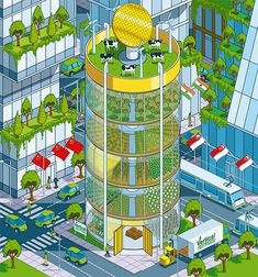 #speculative Vertical Farms. Más sobre ciudades sostenibles en www.solerplanet.com