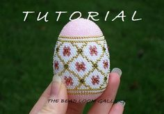 Beaded Easter Egg with Swarovski Crystals - Crochet PDF File TUTORIAL - Vol.3 - Golden Net by thebeadloomgallery on Etsy https://www.etsy.com/listing/87609024/beaded-easter-egg-with-swarovski
