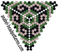 Схема треугольника - серьги - Free peyote triangle pattern