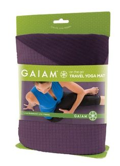 This lightweight travel yoga mat can be folded or rolled into your carry-on so you're ready for yoga wherever you land. The surface is a comfortable and slightly sticky blend of microfiber and natural rubber. Layer over your regular mat for vinyasa or hot yoga practice; absorbs sweat and gives you increased grip.