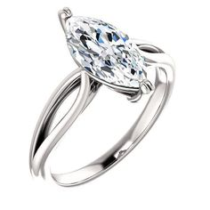 1.5 Ct Marquise Ring 14k White Gold