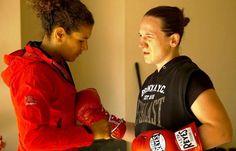 Lucia Rijker and Diana Prazak  photo by Marieke Niestadt Women Boxing, Held, Diana