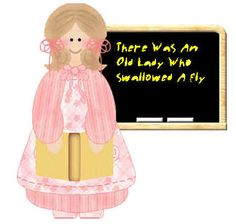 There Was An Old Lady Who Swallowed a Fly lesson links and printables