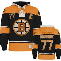 Boston Bruins Ray Bourque Old Time Hockey Lace Hooded Sweatshirt. Ray Bourque will always be a hockey legend in Beantown #nhlbruins #bruins #nhl