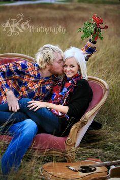 #Engagement #Christmas #guitar #mistletoe #ako #photography @Amanda Olson http://www.akophotography.com