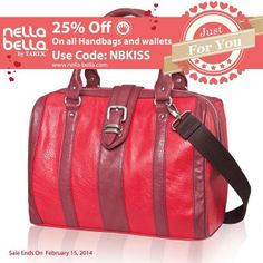 "NB ""Just For You"" online Sale 25% Off all regular & sale priced merchandise. www.nella-bella.com Use Code:NBKISS #NellaBellaBrand #Canada #Handbags #Fashion #Vegan #Style #New #Bags #Totes #Satchel #Clutch #Messenger #Chic #Trend #Design #Instyle #StreetStyle #Love #Everyday #online #ootd #designer #style #share #sale"