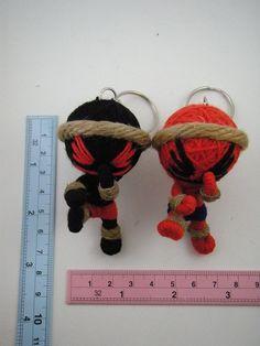2 MUAY THAI Voodoo Doll Yarn Key Chain Key Ring by Yarisada, $7.00