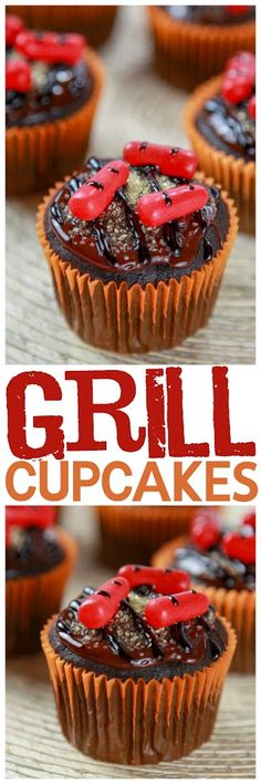 Moist chocolate cupcakes topped with a thick fudgy chocolate frosting. Perfect for BBQs or Father's Day!