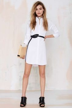 Nasty Gal All Werk No Play Shirt Dress - LWD | Newly Added |  | Dresses