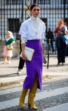 30 Tiny Ways to Dramatically Improve Your Look Now — Who What Wear Street Style 2017, Street Chic, Winter Skirt Outfit, Winter Outfits, Star Fashion, Girl Fashion, Fashion Trends, Fashion 2018, How To Wear Turtleneck
