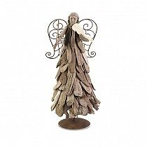 #IMAX 88548 Driftwood Christmas Angel with Violin