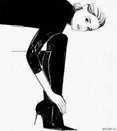 A personal transformation starts with you picking who you want want your best self to be. - Levnow Fashion Illustration, drawings, women Things I Learned In 2014 / Garance Doré