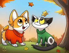 Ichabod the Optimistic Canine :: Autumn Air   Tapastic Comics - image 1