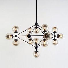 Modo Chandelier - 4 Sided, 15 Globes - Furniture + Lighting - Dining