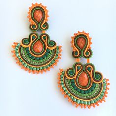 Soutache Mandala Drop Earring