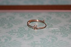 Dainty Initial Ring by CREATIVEdesignbyTHAO on Etsy, $9.99