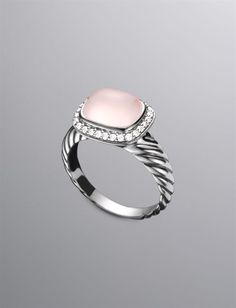 David Yurman | Women | Rings: Noblesse Ring, Pink Chalcedony