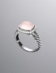 David Yurman | Women | Rings: Noblesse Ring, Pink Chalcedony