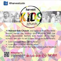 KIDS CHURCH '15 Starts tomorrow. Connect your kids into children's church this Sunday. Grab yr kids card for venue info. #StepUp15