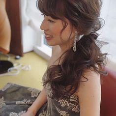 モニークルイリエのカラードレスが素敵だった✨ サイドポニーは本当にオススメスタイルです✨