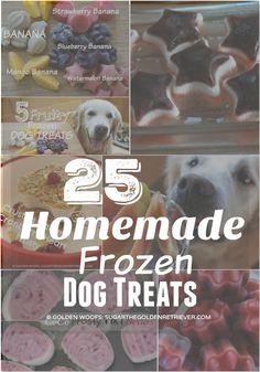 25 Homemade frozen dog treats