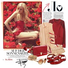 """Raspberry"" by ts-alex on Polyvore"