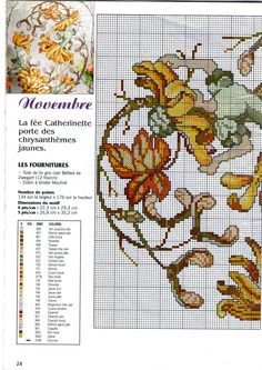 Французский календарь ноябрь