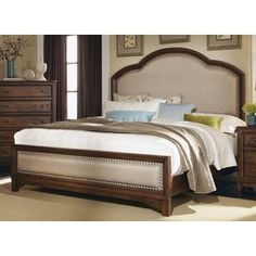 Coaster Furniture - Laughton California King Panel Bed In White/Brown - Rustic Bedroom Decor, Bedroom Headboard, Furniture, King Upholstered Bed, Bed Sizes, Coaster Furniture, Bedroom Sets, Upholstered Beds, Upholstered Platform Bed
