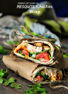 SANDRA'S EASY COOKING: Mesquite Chicken Wrap