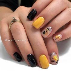 38 Best Winter Nail Art Ideas Fashion and Glorious Trends 2019 - Chicbetter Inspiration for Modern Women Wow Nails, Pretty Nails, Classy Nails, Stylish Nails, Yellow Nail Art, Fall Nail Art Designs, Summer Acrylic Nails, Minimalist Nails, Powder Nails