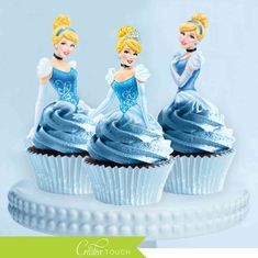 disney princess cupcake topper cinderella