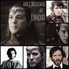 Bret McKenzie as Lindir by Heather Sondreal