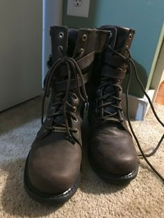 d0c605e85d10 harley davidson womens boots size 10 brown leather slightly used  fashion   clothing  shoes