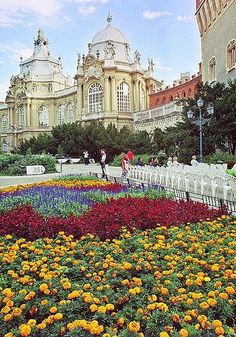 Part of the Vajdahunyad Castle in Budapest (this is the baroque-renaissance part, as the castle is actually a purposeful mix of architectural #Castles