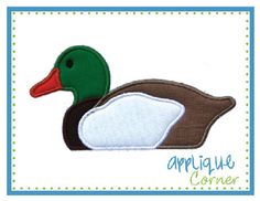 Mallard Duck Applique Design