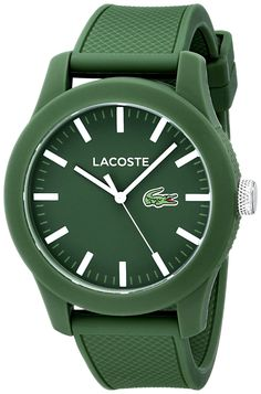 Lacoste Men s 2010763 Lacoste.12.12 Green Resin Watch with Silicone Band  Luxury Fashion 8beed32a5d