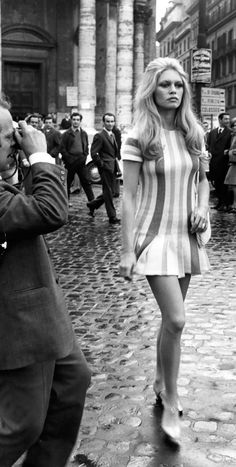 brigitte bardot - shorter and shorter dresses and skirts