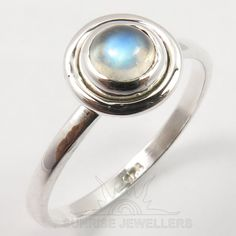 925 Solid Sterling Silver RAINBOW MOONSTONE Gemstone Pretty Ring Choose Any Size #SunriseJewellers #Fashion