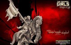 Update - Mounted Knights (Sisters - F) Volcano Ash, Elf Images, Tough Girl, Dark Elf, Knights, Elves, Lust, North America, Miniature Wargames